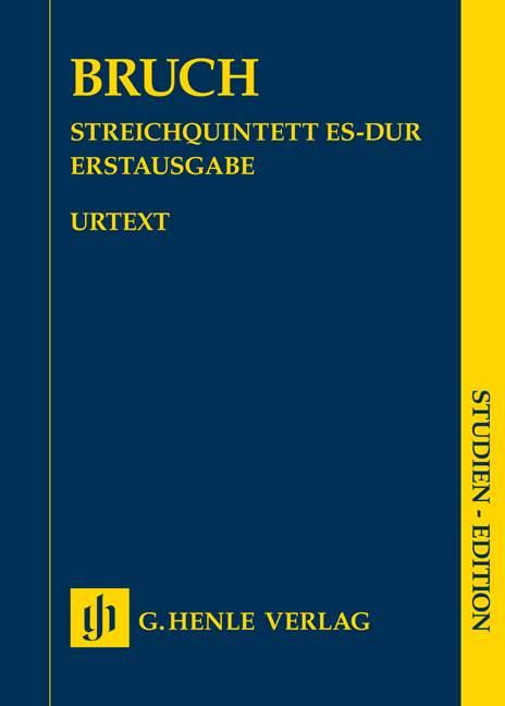 String-Quintet-in-E-flat-major-Bruch-Max-First-edition-miniature-score-2-violi